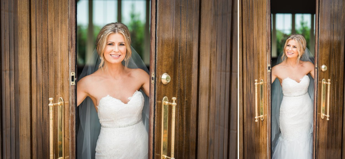 Ashton Gardens Bridal Portrait chapel doors