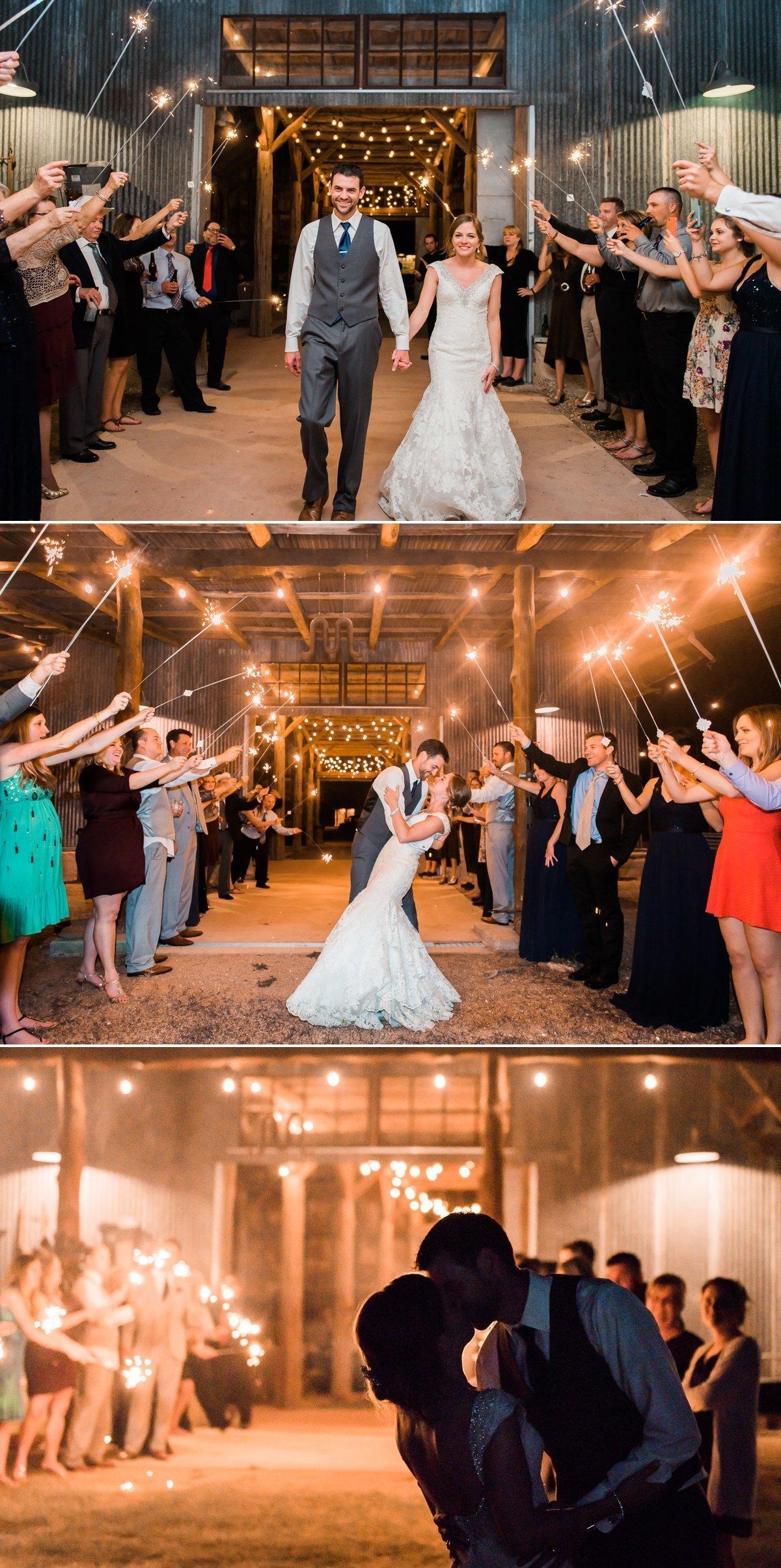 Montesino Ranch Wedding Sparkler Exit