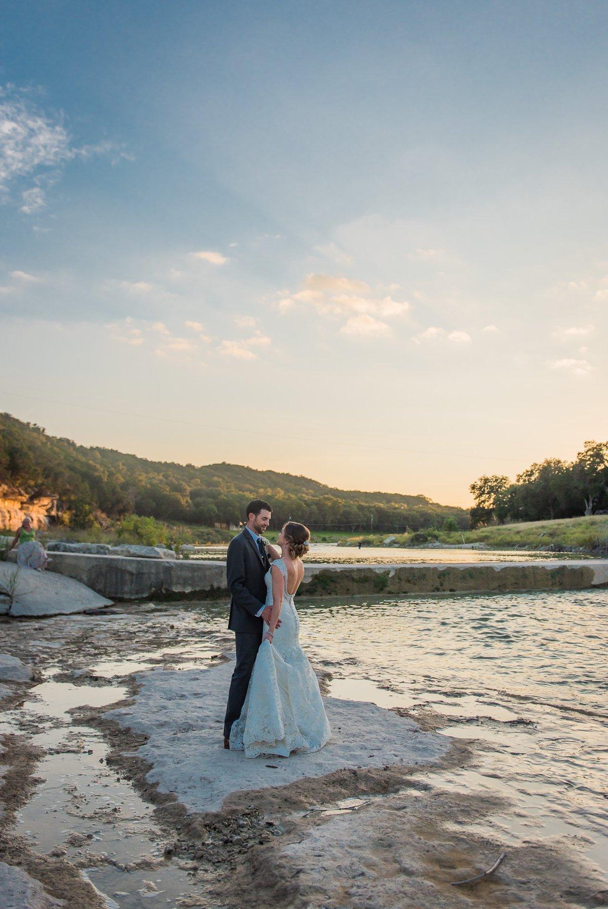 Montesino Ranch Wedding Bride and Groom Sunset Photos