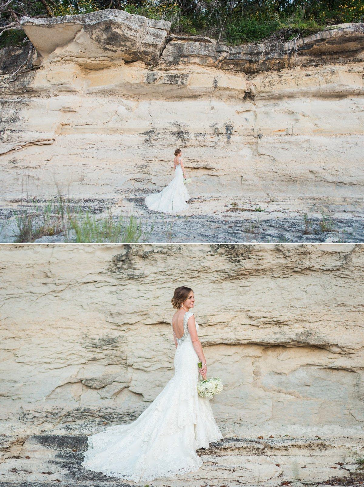 Montesino Ranch Wedding Bride Blanco River