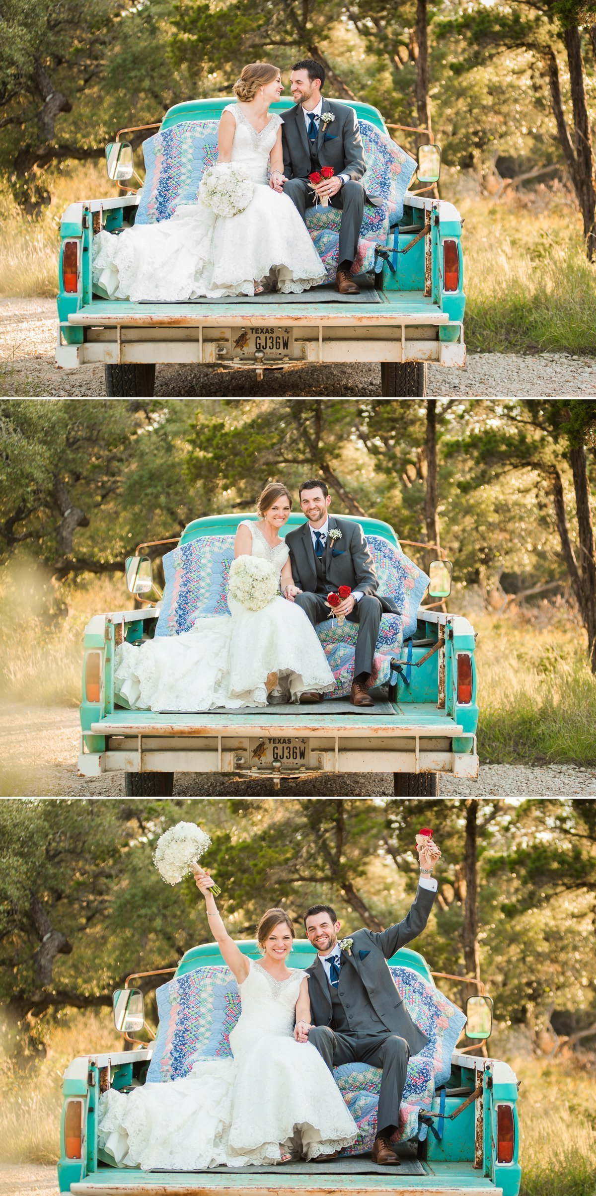 Montesino Ranch Wedding with vintage blue truck