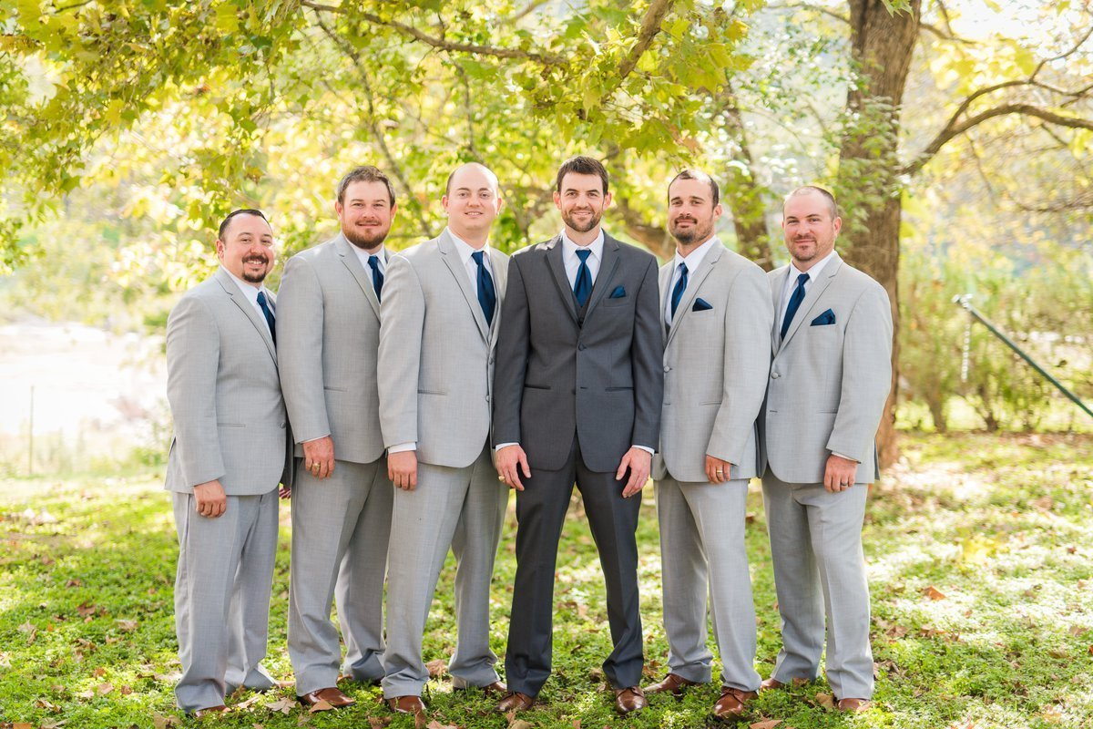 Montesino Ranch Wedding groom and groomsmen