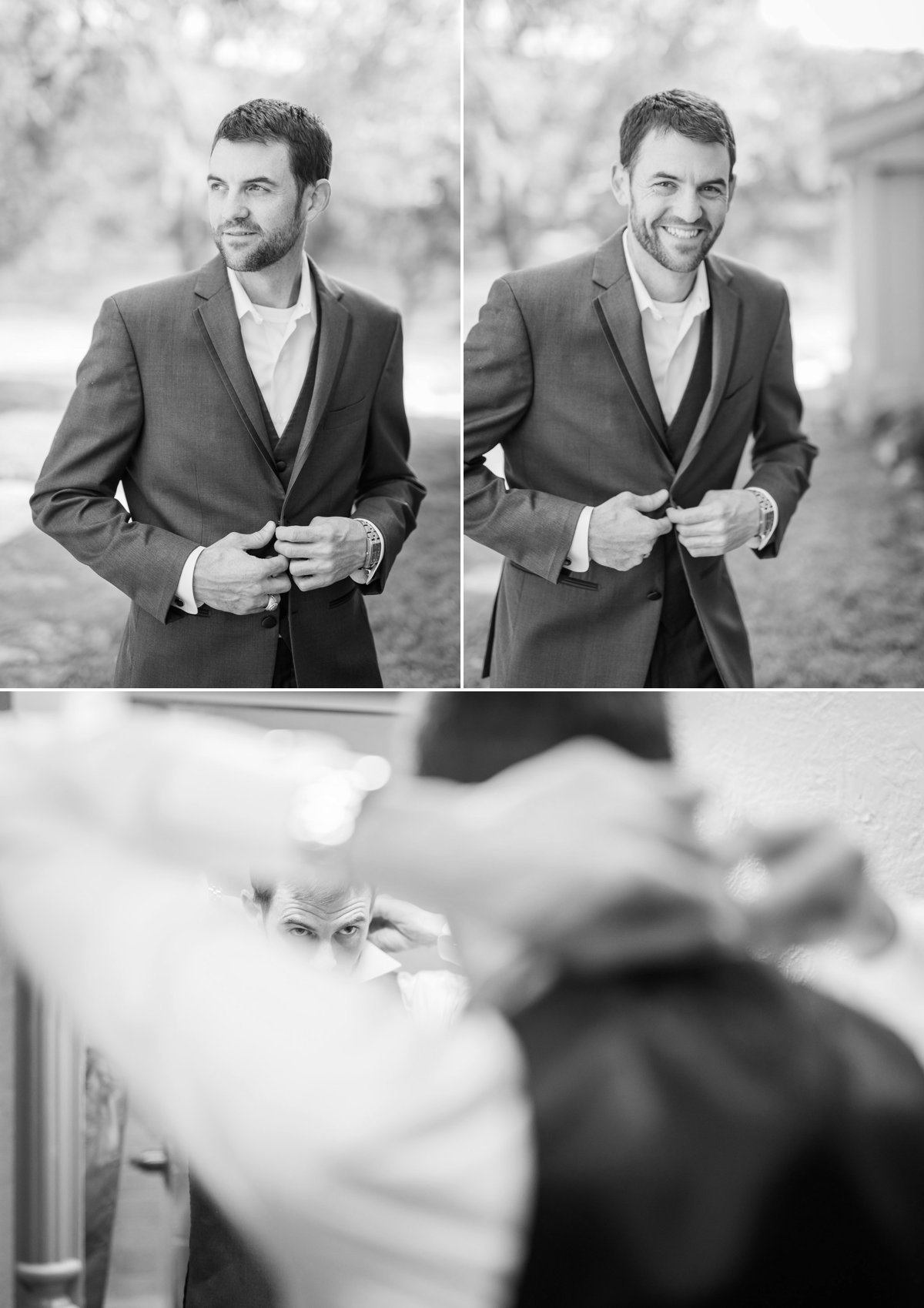 Montesino Ranch Wedding groom getting ready