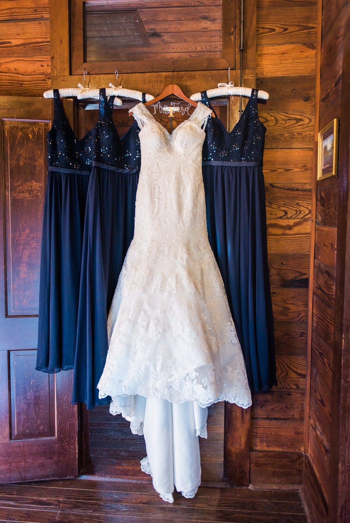 Montesino Ranch Wedding dress and bridesmaid dresses