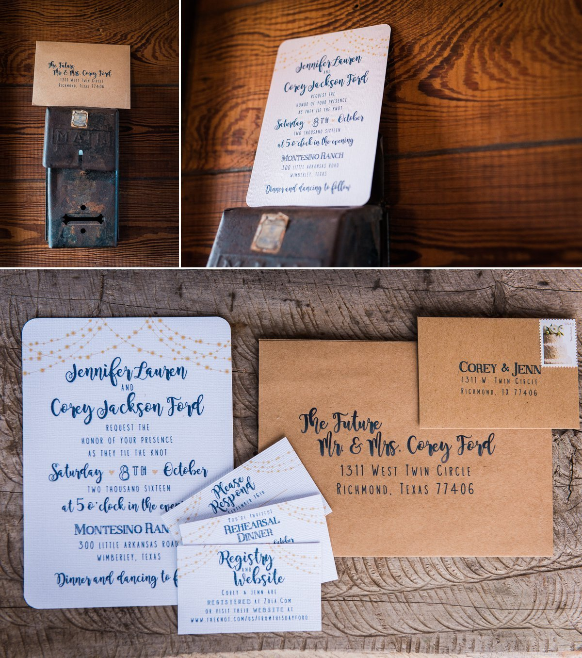 Montesino Ranch Wedding invitation ideas