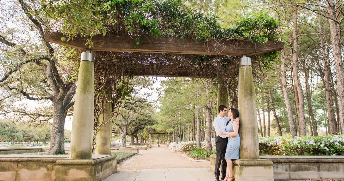 Houston Engagement Photos in Hermann Park