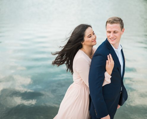 Aubrey & Chris Houston Engagement Photo by Nate Messarra