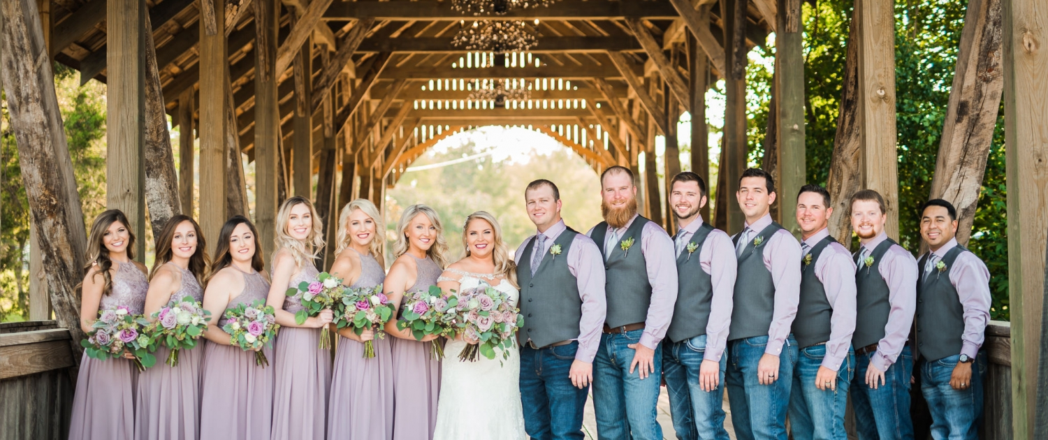 Big Sky Barn Wedding Party
