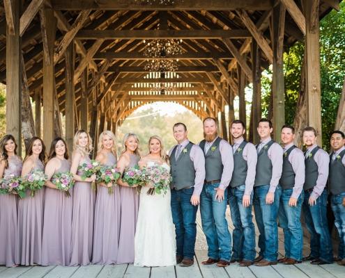 Big Sky Barn Wedding Party