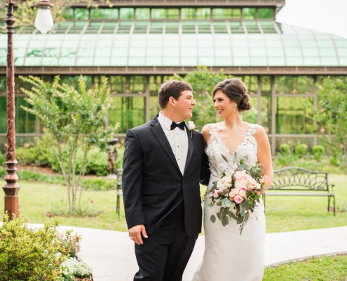 The Bryan Museum Wedding in Galveston Bride and Groom
