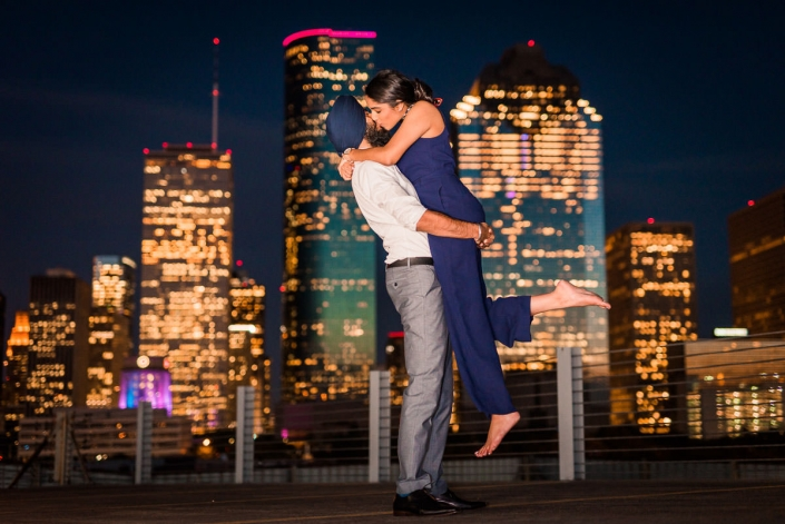 Skyline Houston Engagement and Wedding Photography