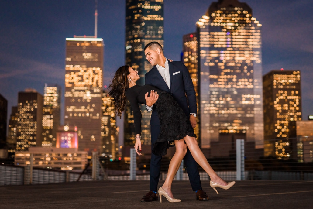 Vibrant Urban Houston Engagement and Wedding Photography