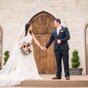 Bride and Groom at Ashton Gardens North Wedding