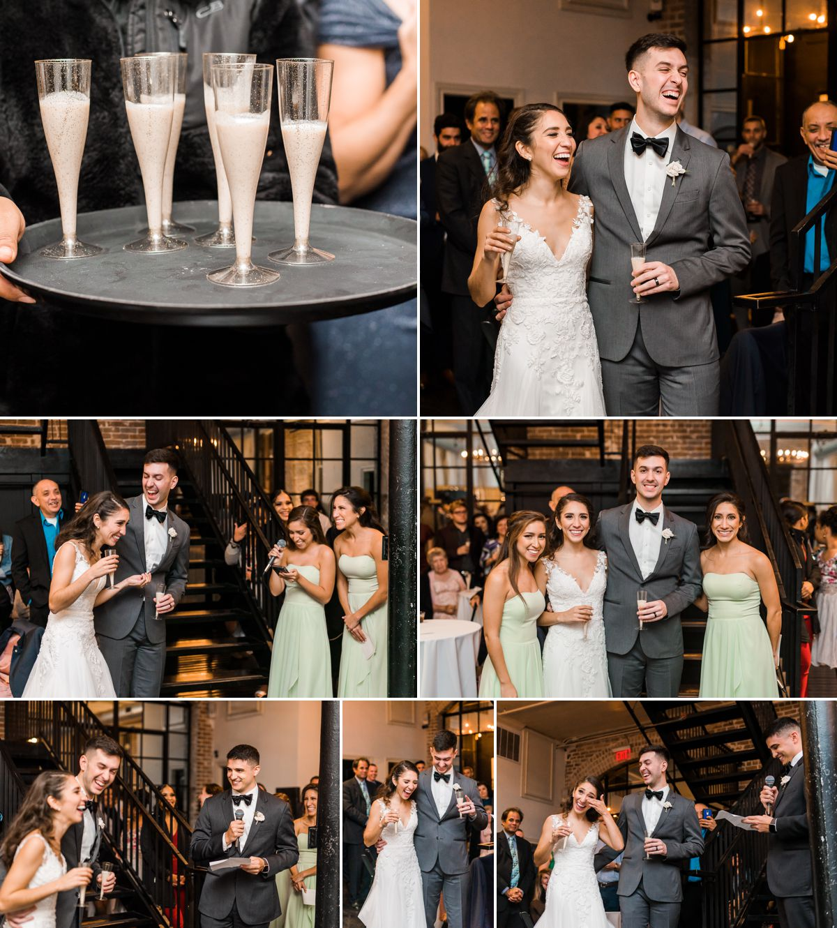 Station 3 Wedding Reception - Wedding Toasts - Houston Wedding Photographers