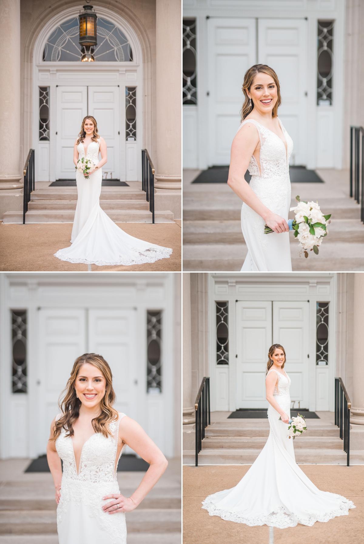 Bridal Portraits of Bride at St. Luke's United Methodist Church in Houston