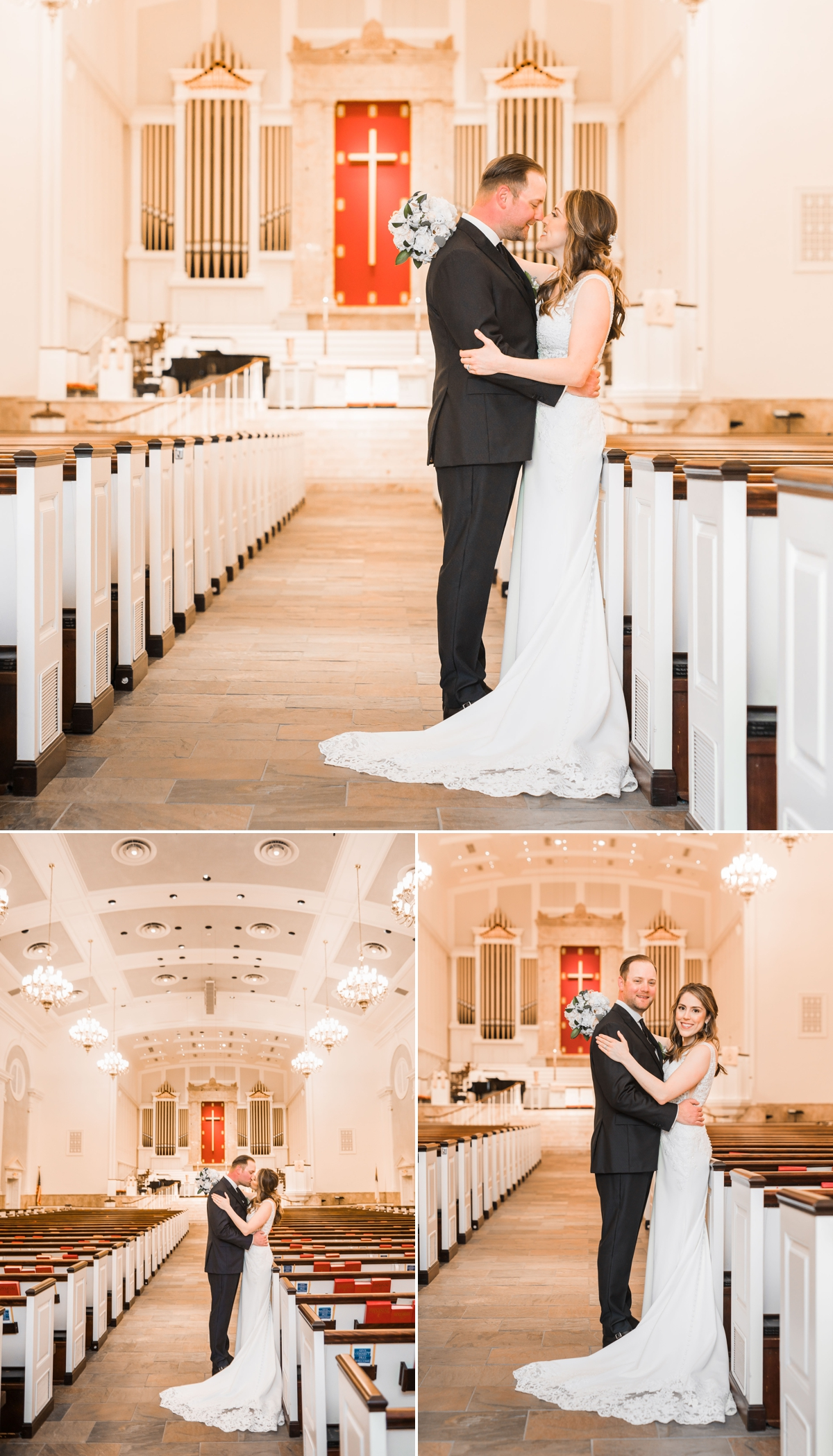 St. Luke's United Methodist Church in Houston Bride and Groom Portraits
