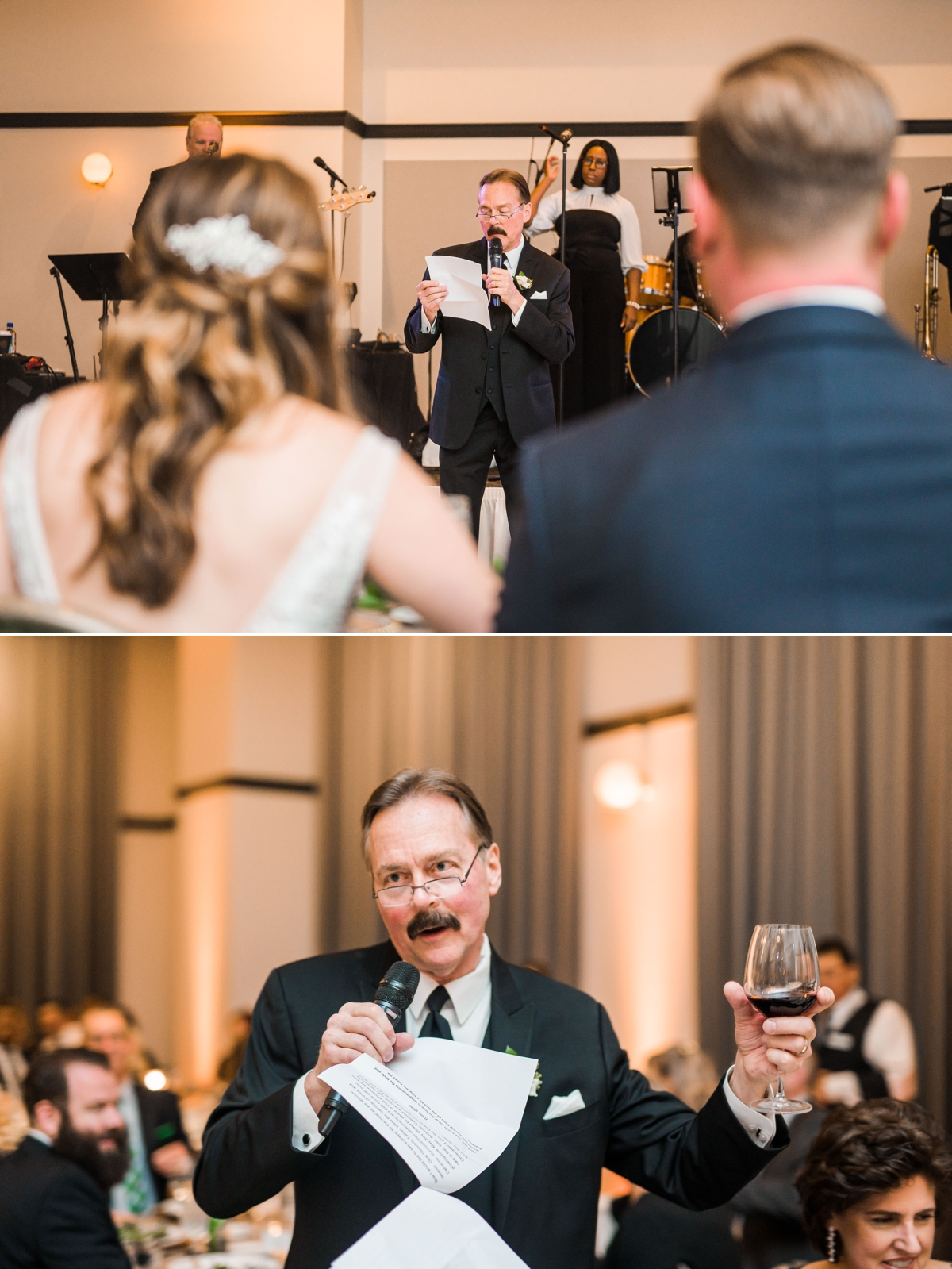 Father of the Bride Toast at Houston Hotel Wedding