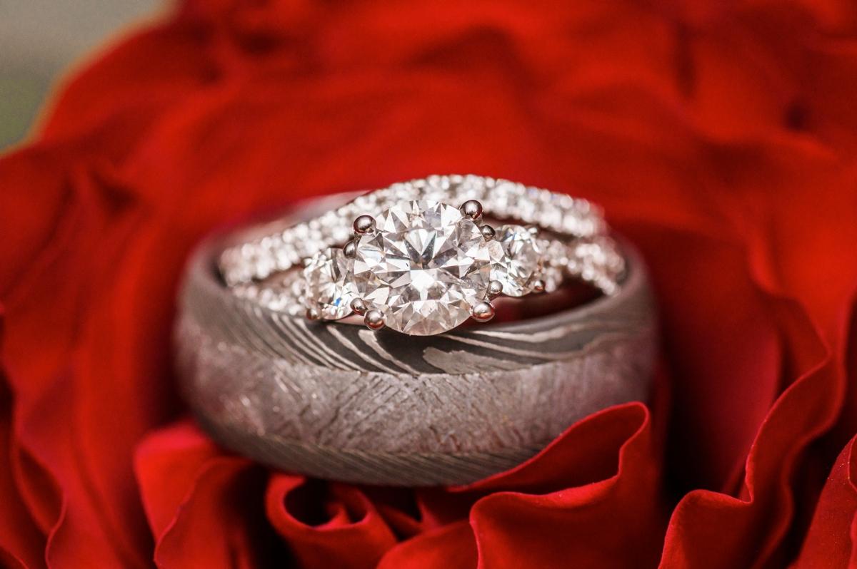 Houston Hotel Wedding Ring Detail Photo