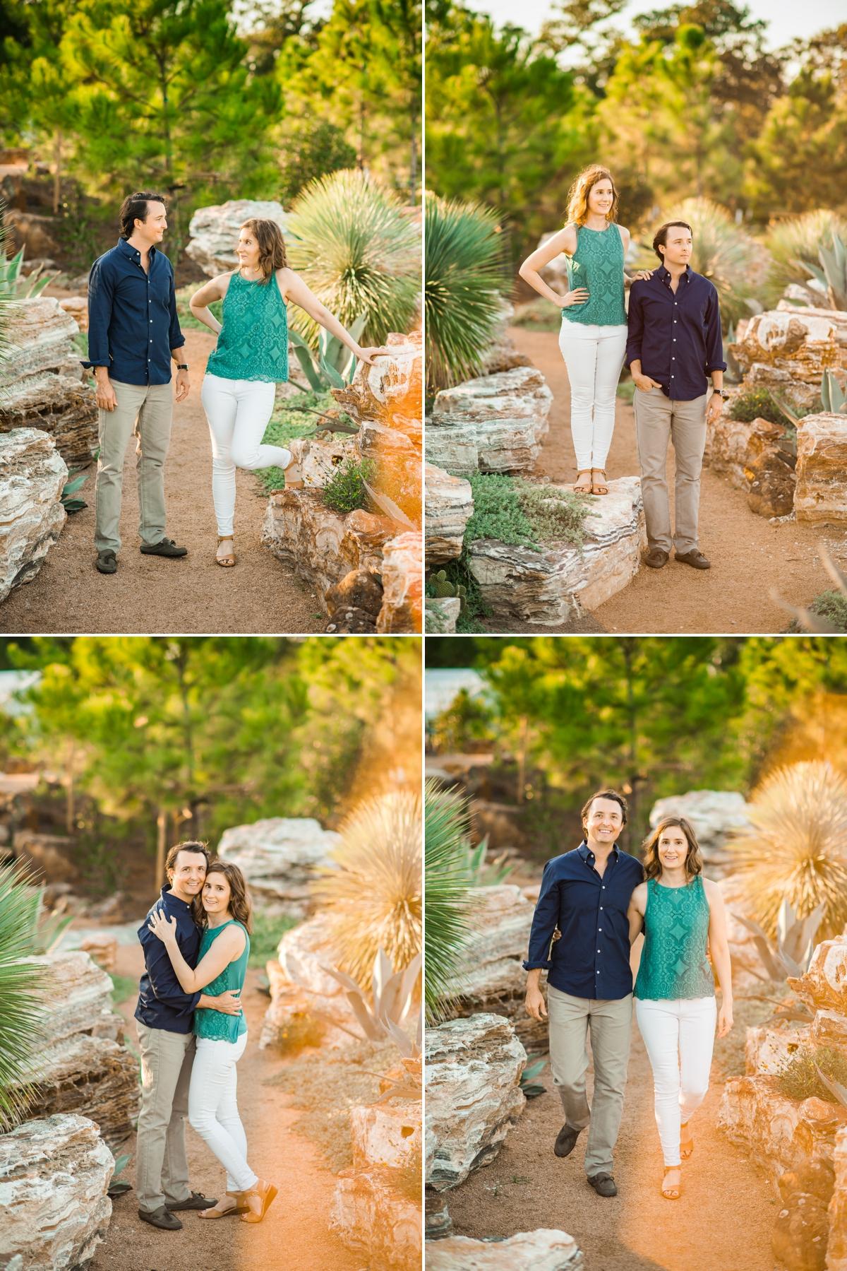 Couple exploring a desert garden at Houston Botanic Garden
