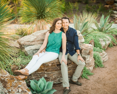 Unique Houston Engagement Session at the Houston Botanic Garden