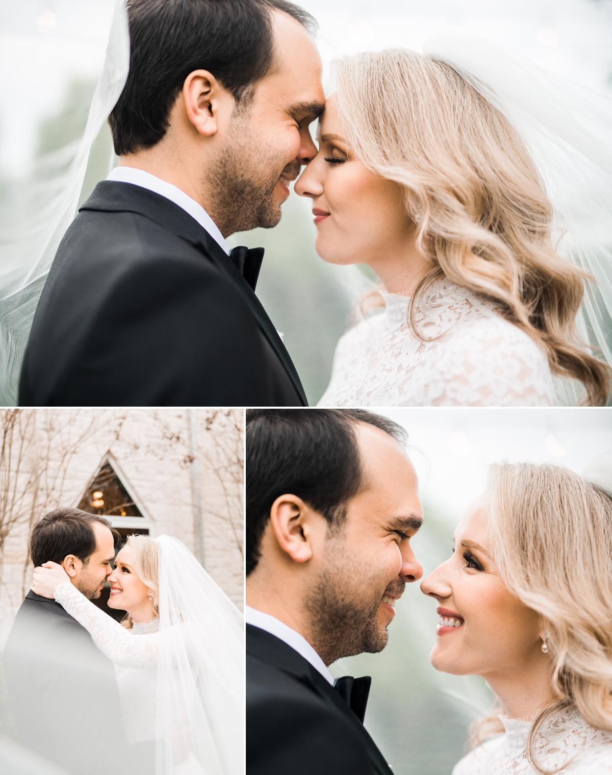 Romantic Bride and Groom Wedding Portraits at Briscoe Manor Wedding