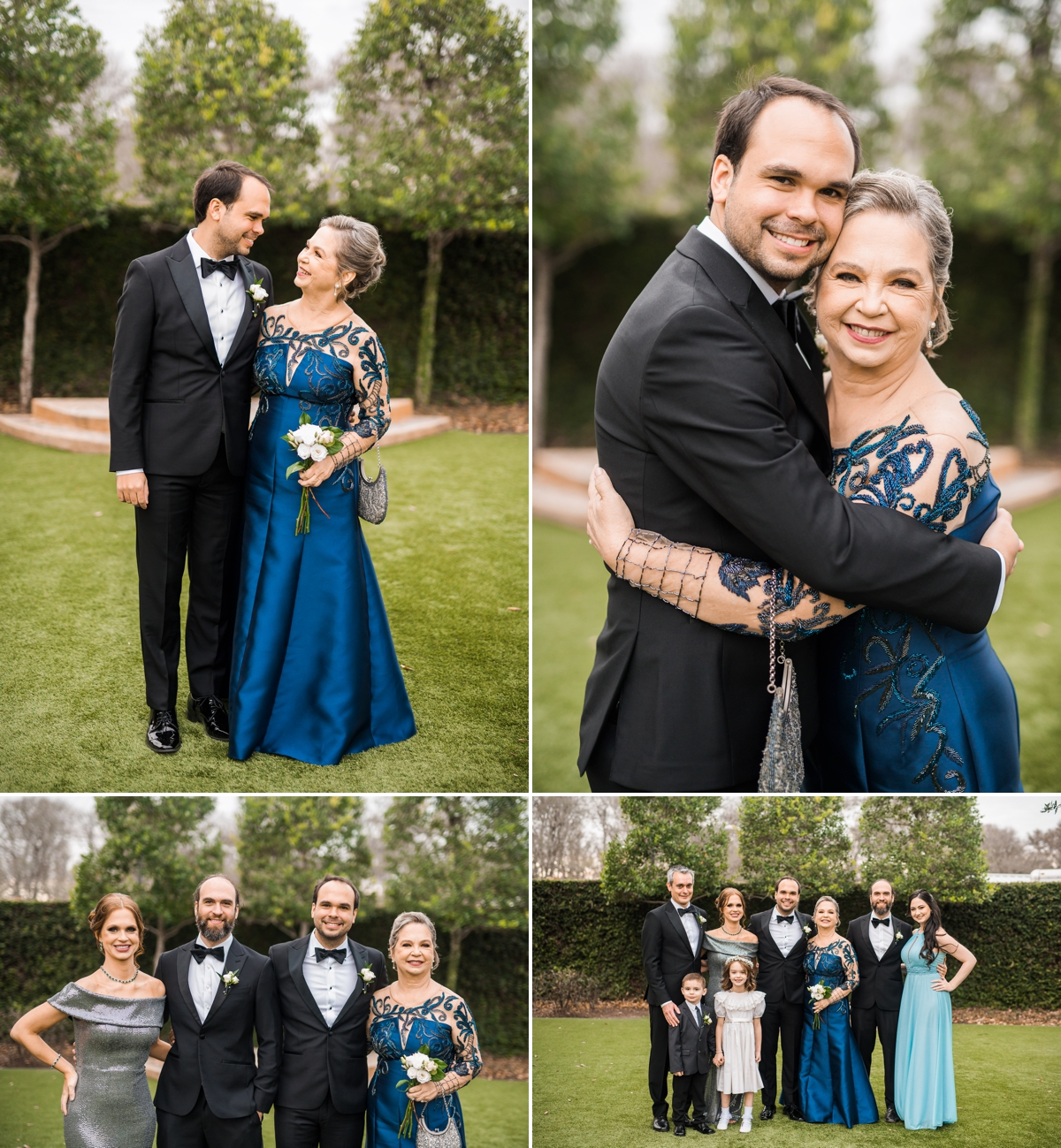 Groom Family Portraits at Briscoe Manor Wedding