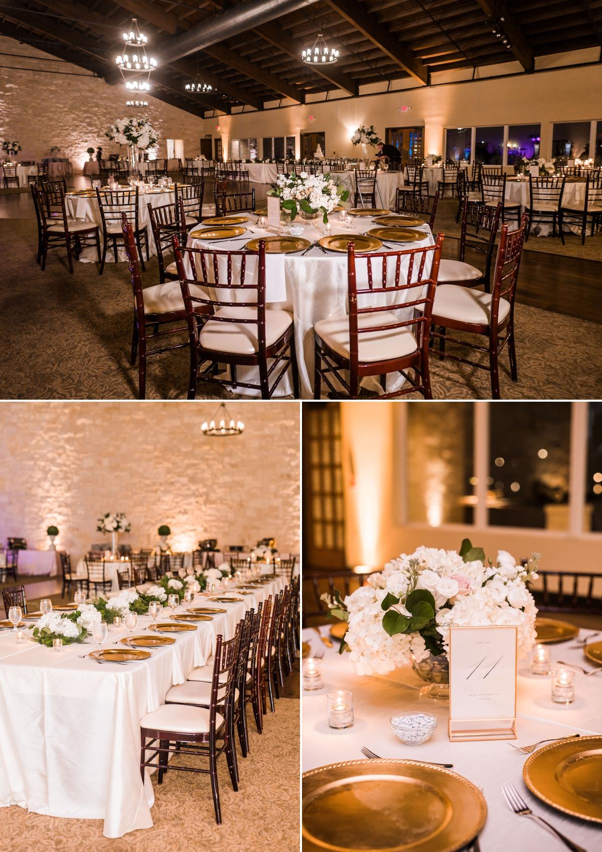 Romantic Cream Wedding Reception decor with Blush accents at Briscoe Manor Wedding