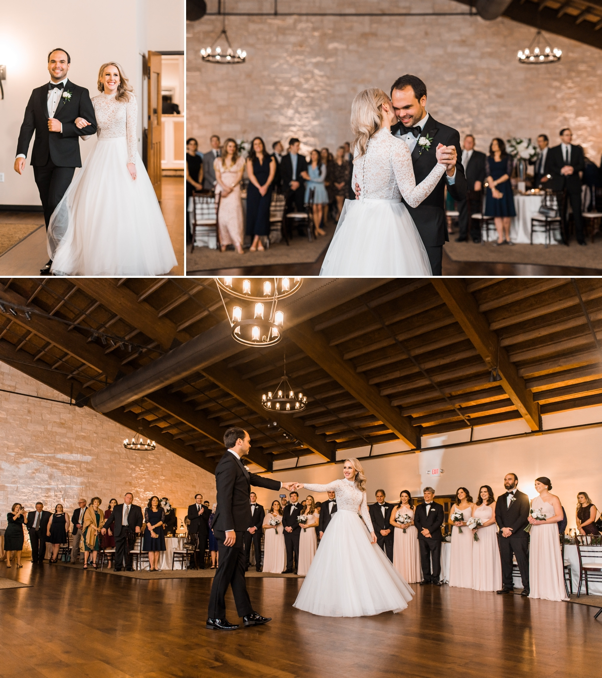 Entrance and First Dance of Bride and Groom at Briscoe Manor Wedding