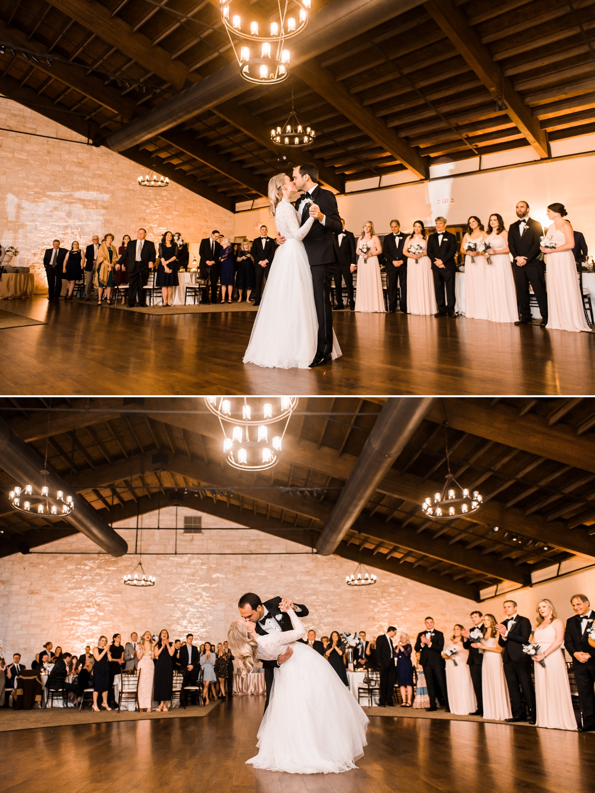 Bride and Groom First Dance at Briscoe Manor Wedding