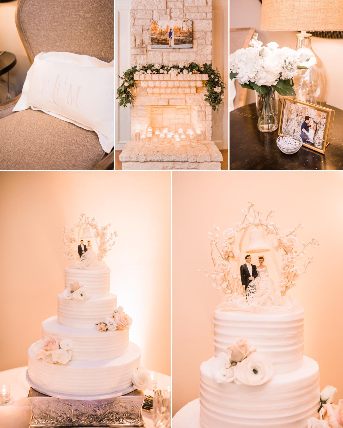 Monochromatic Cream and Blush wedding details at Briscoe Manor Wedding