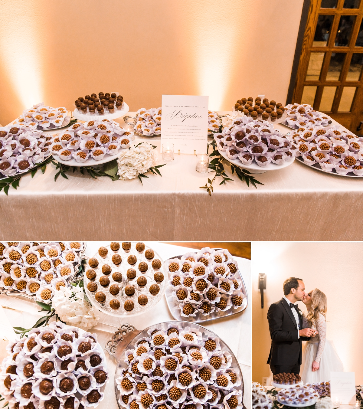 Traditional Brigadeiro Wedding Desserts at Texas and Brazilian Wedding at Briscoe Manor