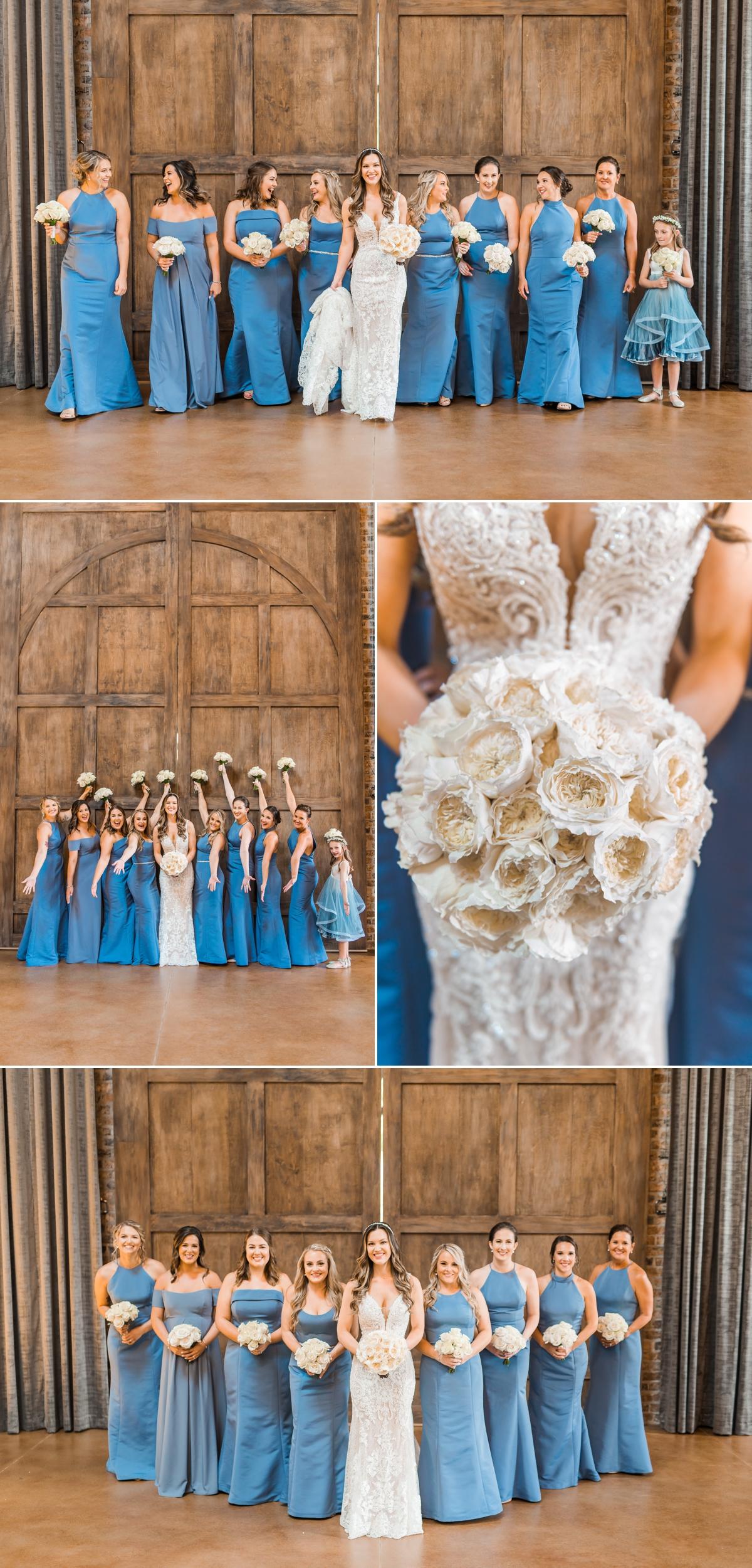 Bride and Bridesmaid Portraits at Iron Manor Wedding in Houston