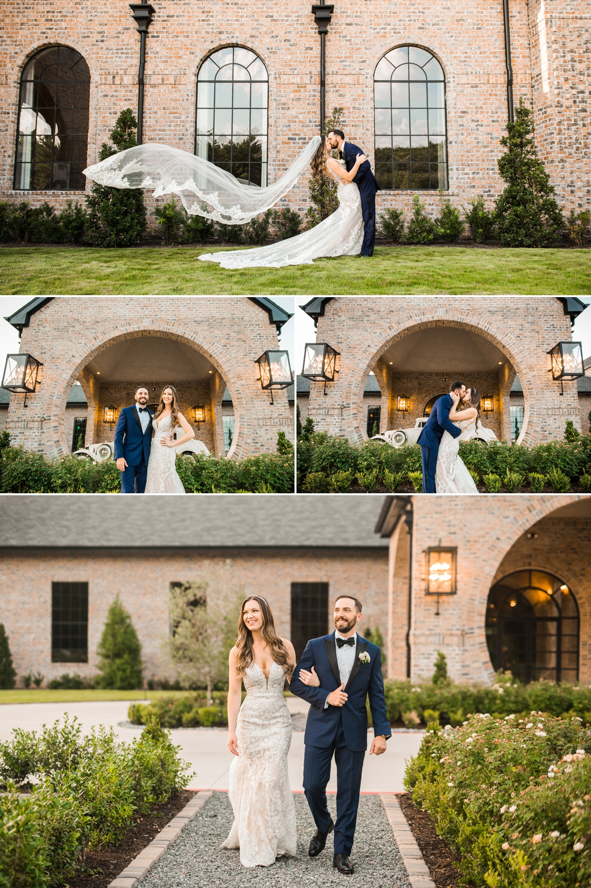 Bride and Groom Portraits outdoor at Iron Manor Wedding