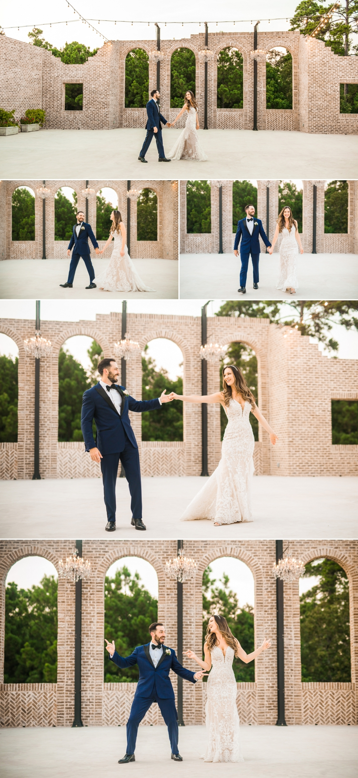 Iron Manor Bride and Groom Portraits outdoors