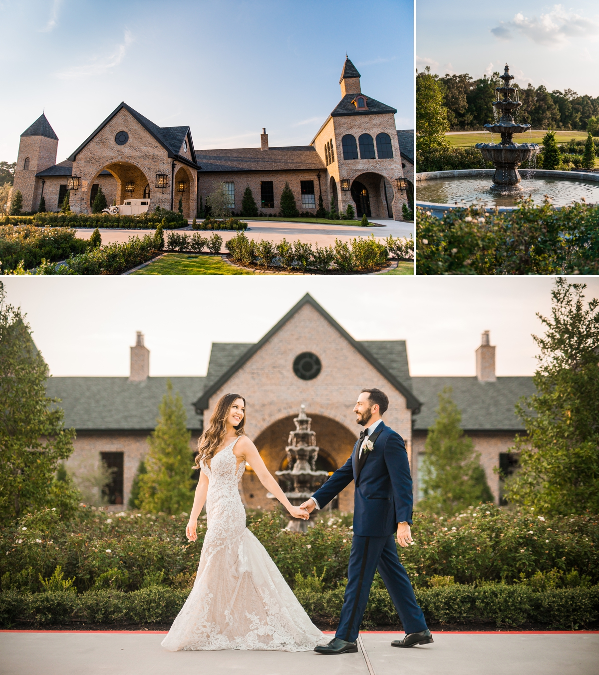 Bride and Groom get married at Iron Manor in Houston
